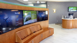 Saturn Digital Media digital signage wall at Libro Financial Group London West3 thumb